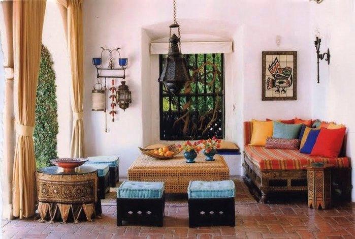 Дизайн интерьера в индийском стиле