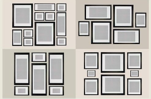 набор рамок для фотографий на стену
